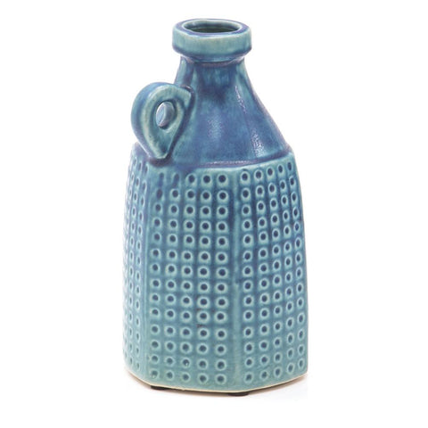 Blue BFA Ceramic Spotted Pottery Vase