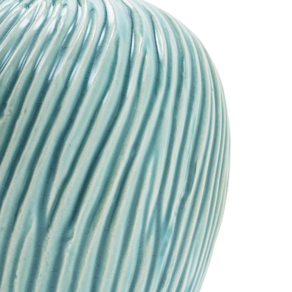 Blue Aqua BFA Ceramic  Wave Vase