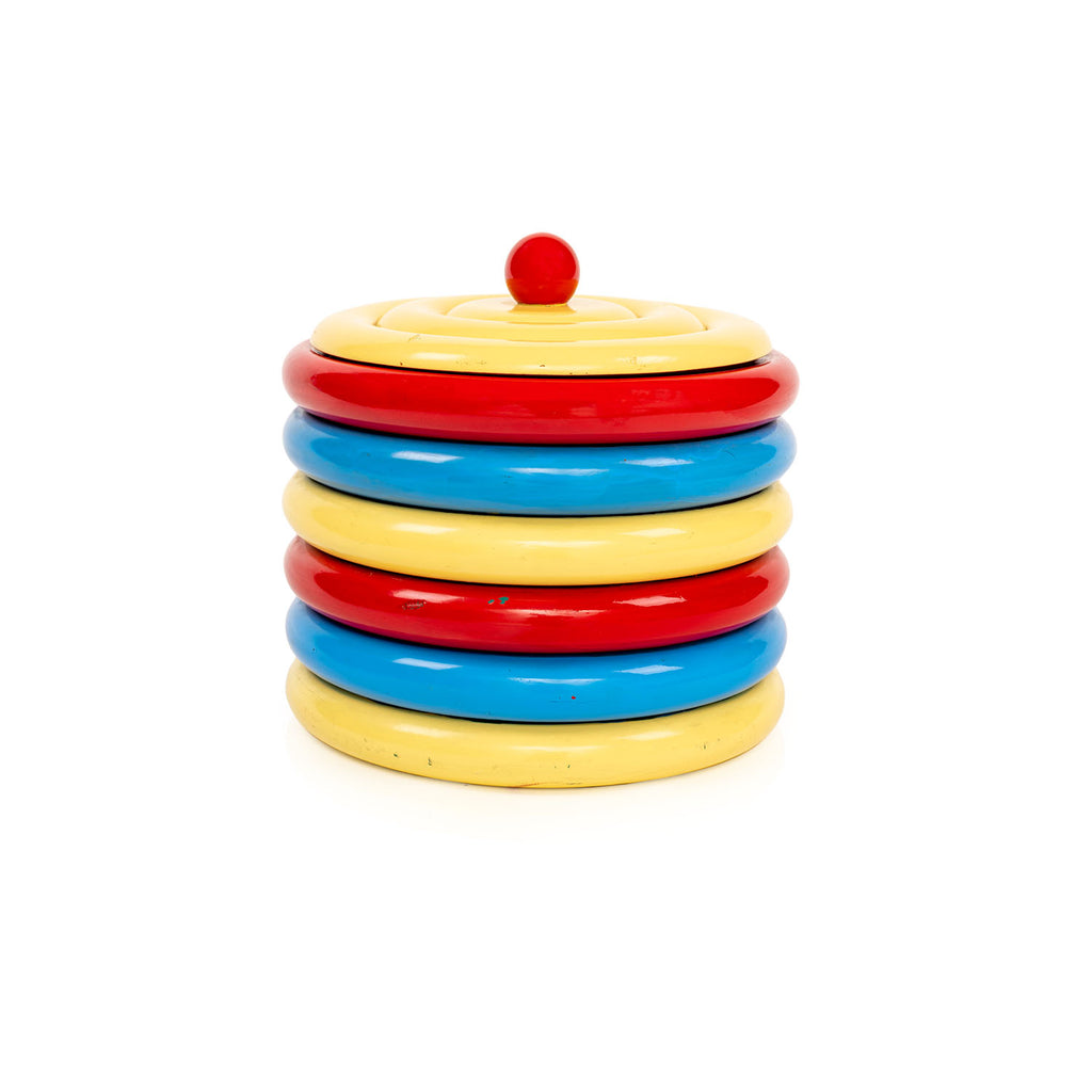Fun Ringed Primary Color Cookie Jar