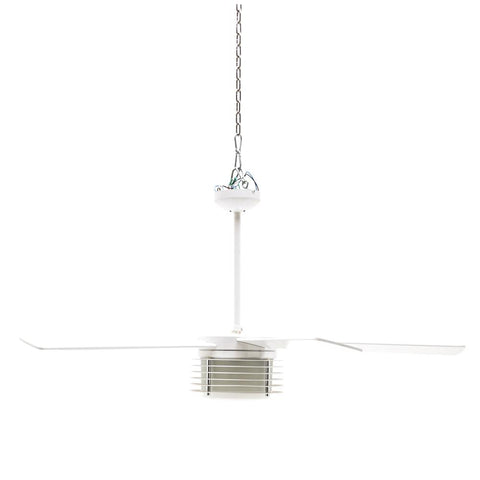 White Contemporary Ceiling Fan