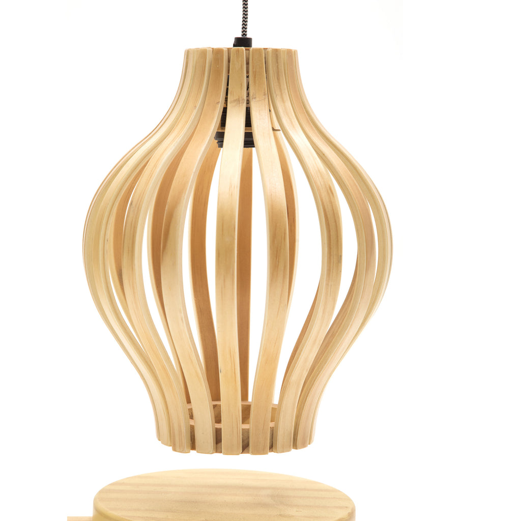 Bentwood Hanging Table Lamp