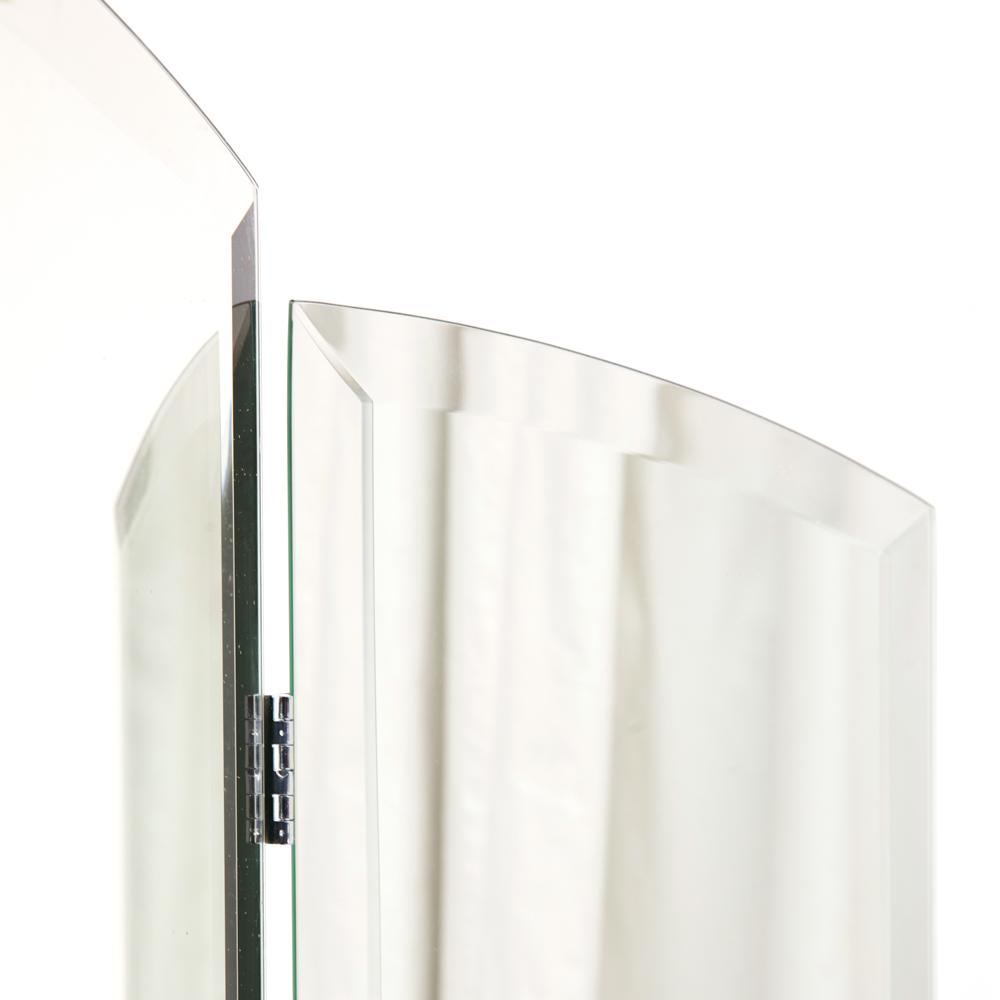 Trifold Arched Tabletop Mirror