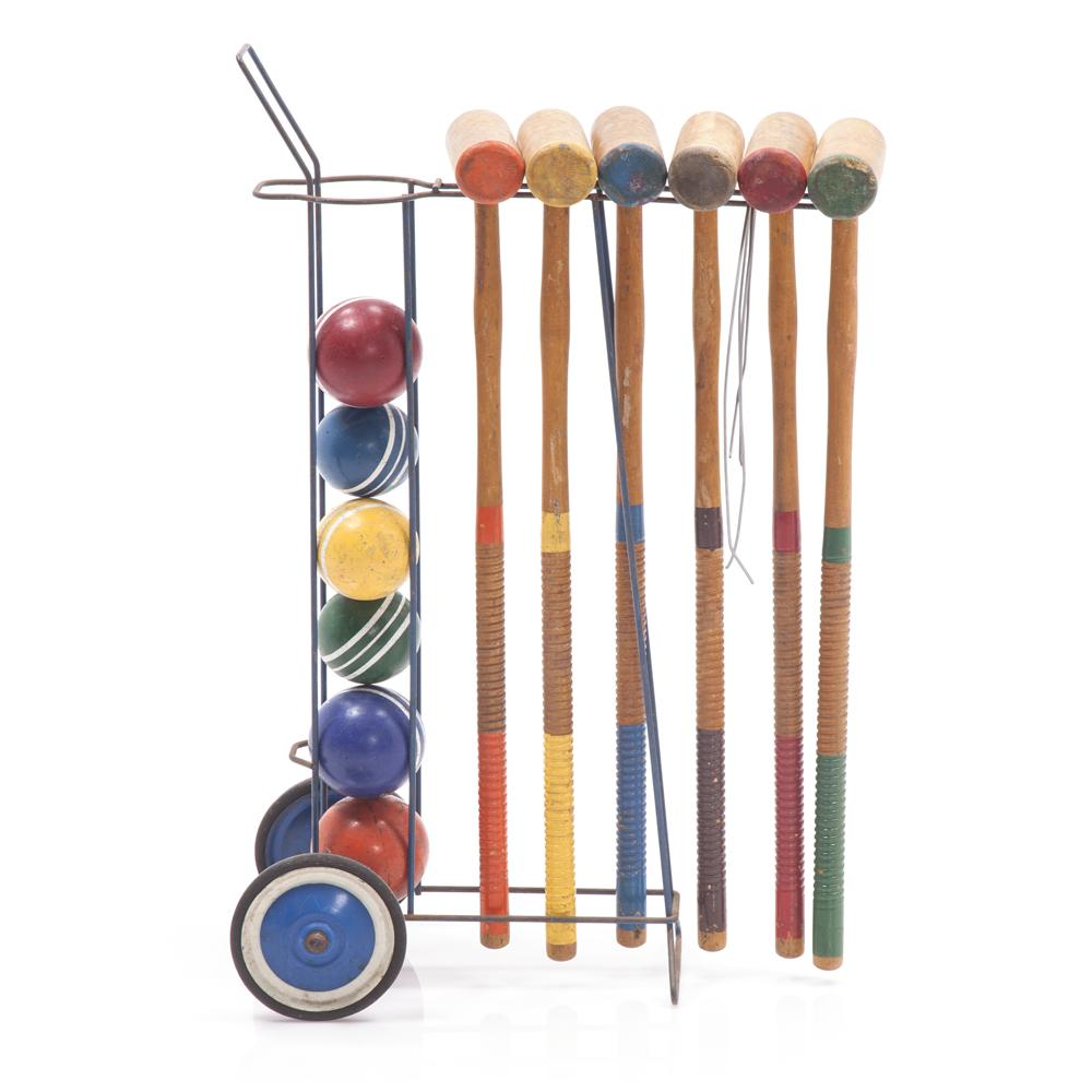 Croquet Set -Metal With Wheels