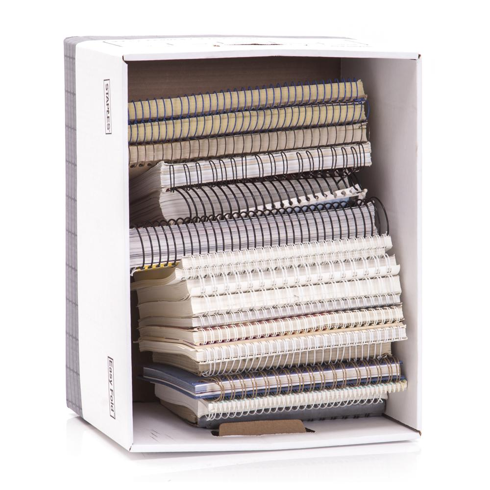 Box of Spiral Notebooks 2