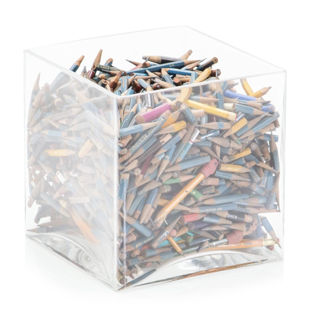 Square Jar of Pencils