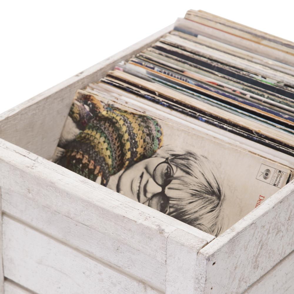 White Crate of Records
