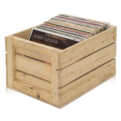 Wood Crate of Records