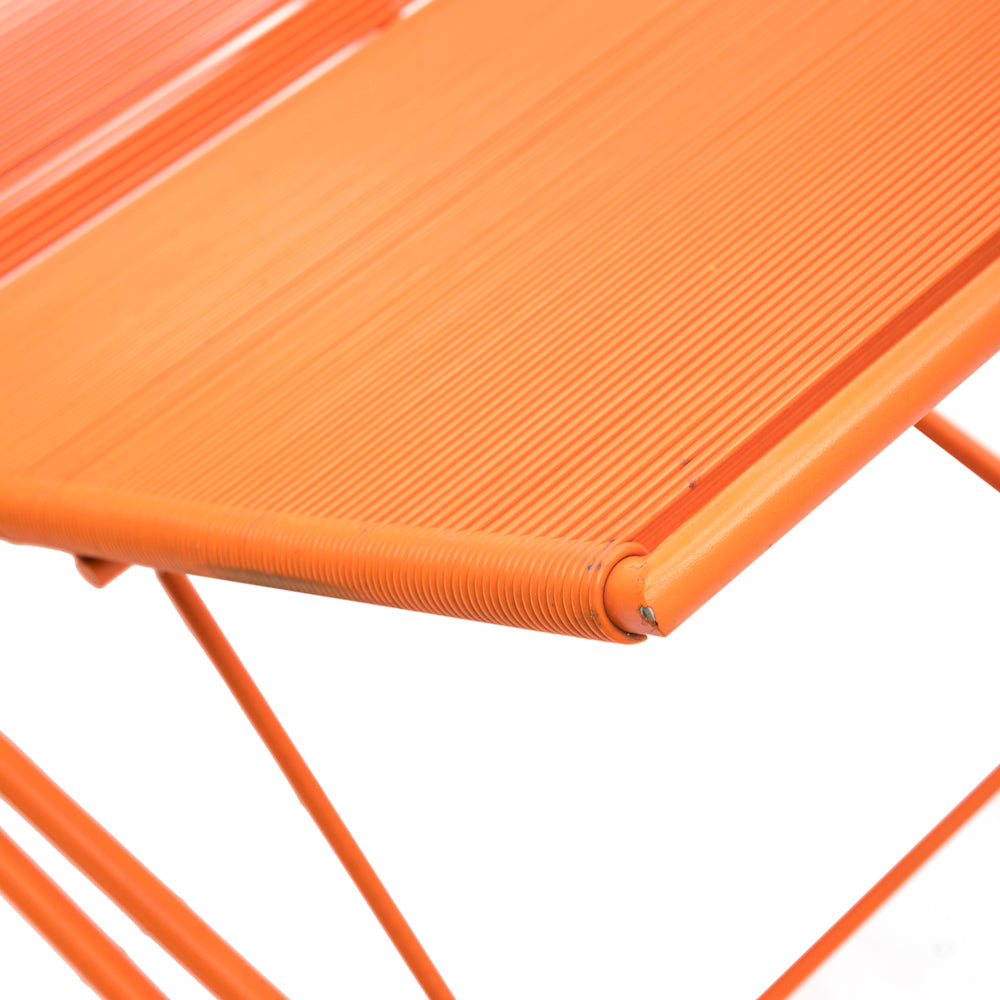 Orange Cord Outdoor Chaise