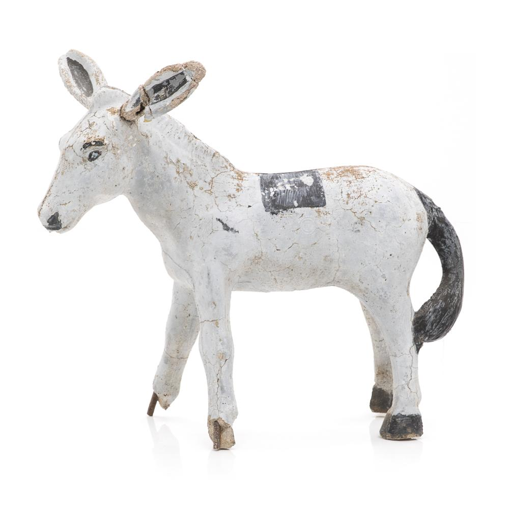 Rustic Cement Donkey Sculpture