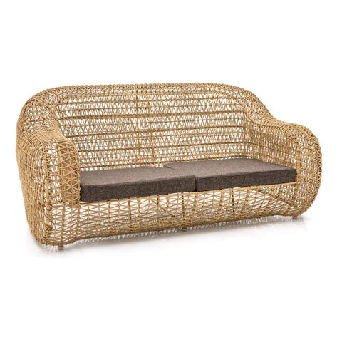 Brown Wicker Outdoor Sofa