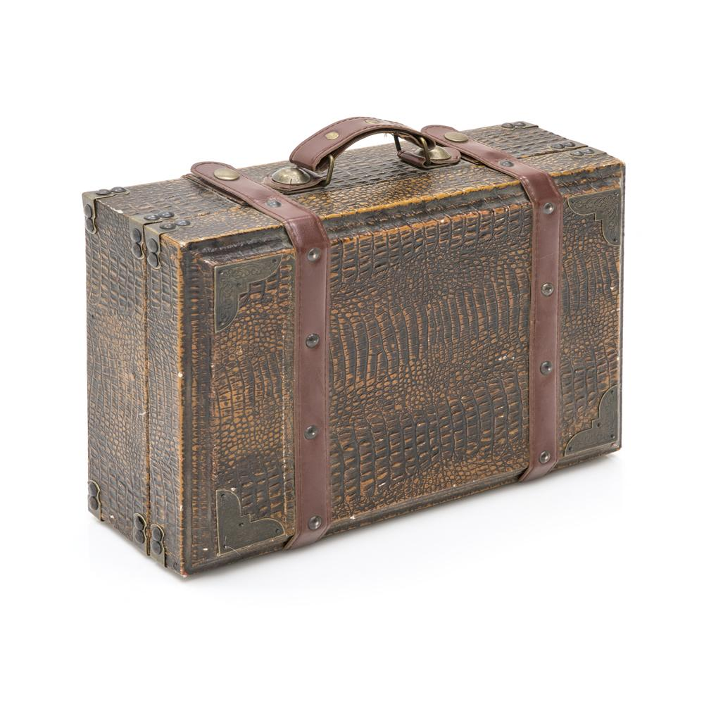Copy of Alligator Skin Suitcase With Leather Straps Small