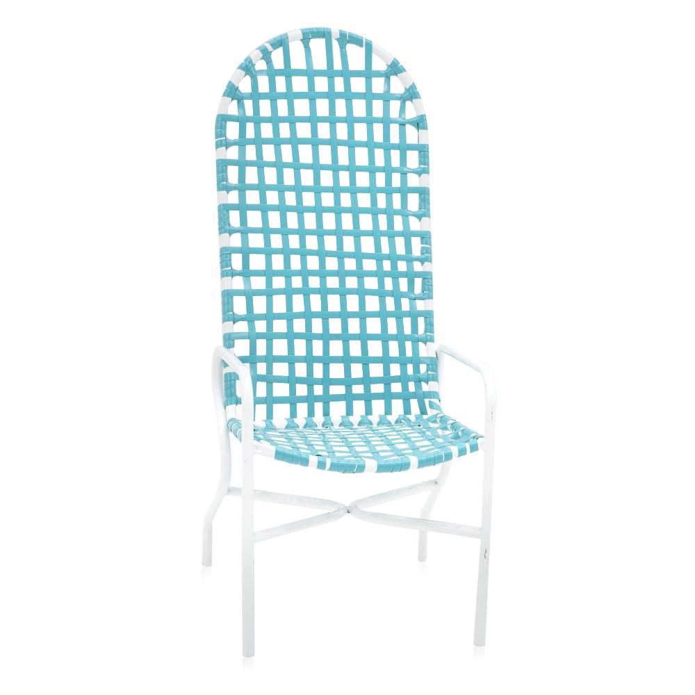 Blue Woven Outdoor Chair