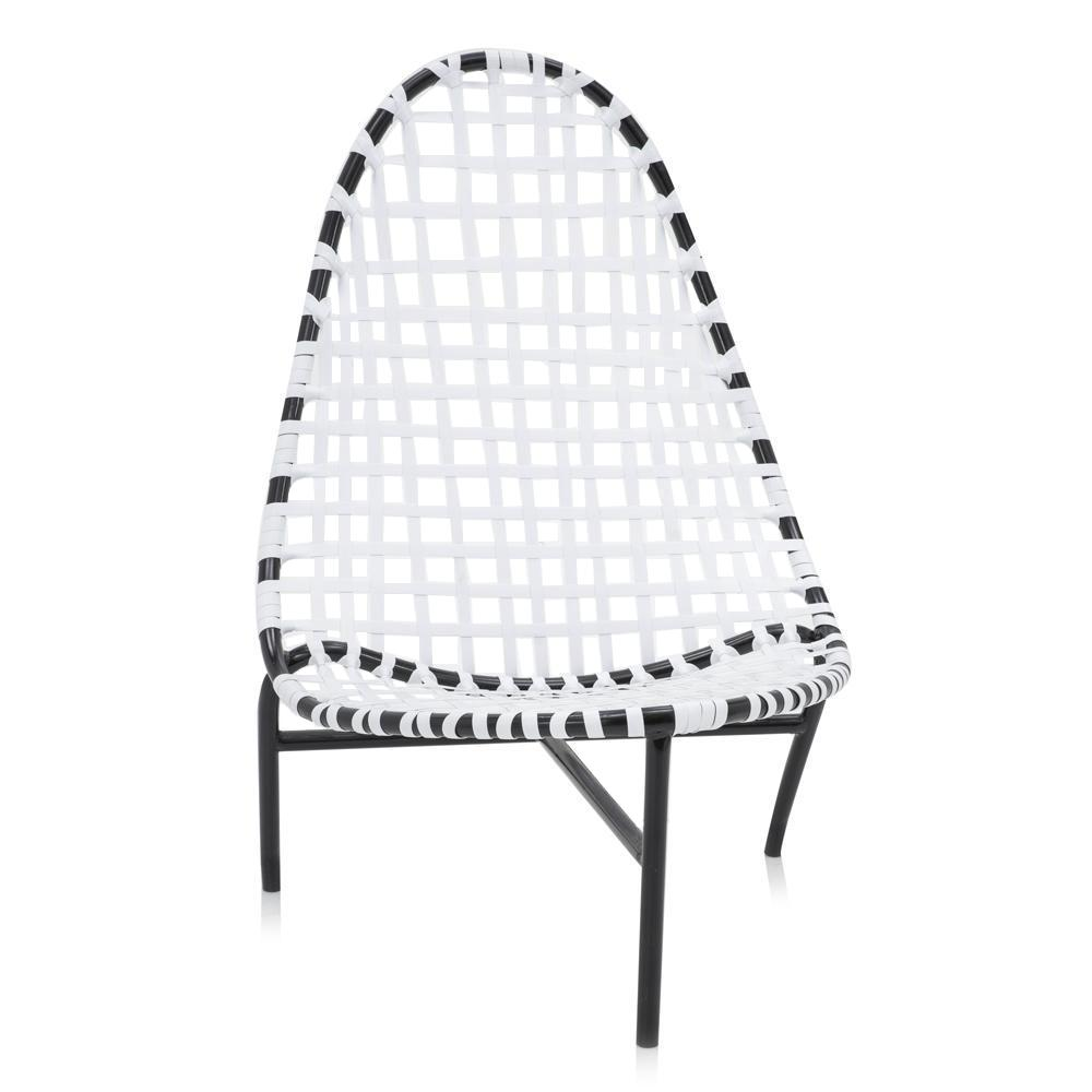 Black and White Woven Outdoor Chair
