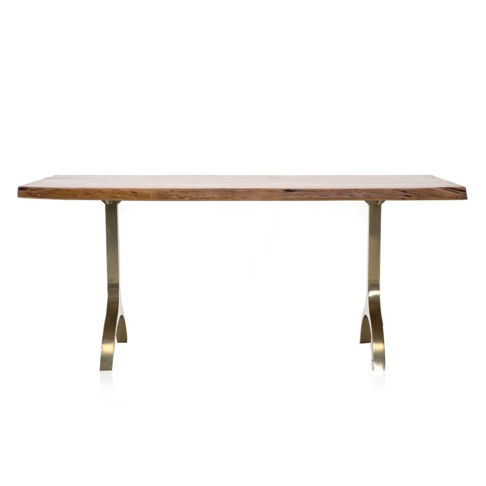 Brass Base Dining Table