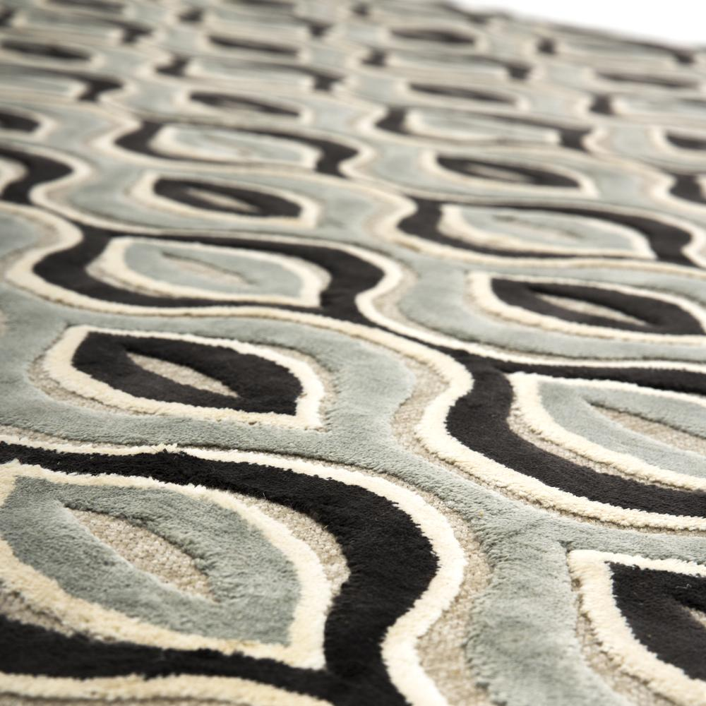Black and Green Patterned Rug