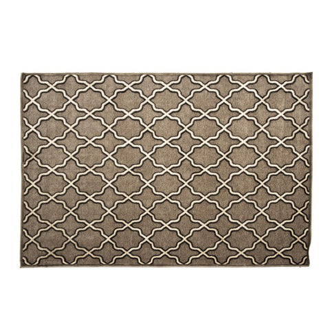 Black and Brown Patterned Rug