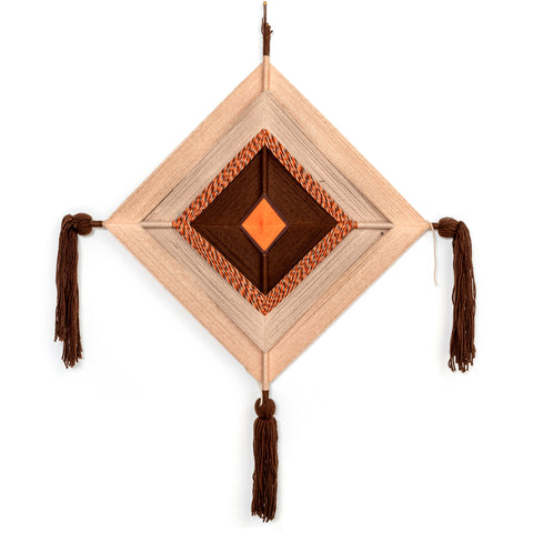 Brown & Orange God's Eye Wall Tapestry