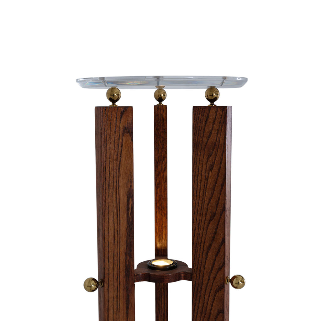 Wood Three-Post Pedestal