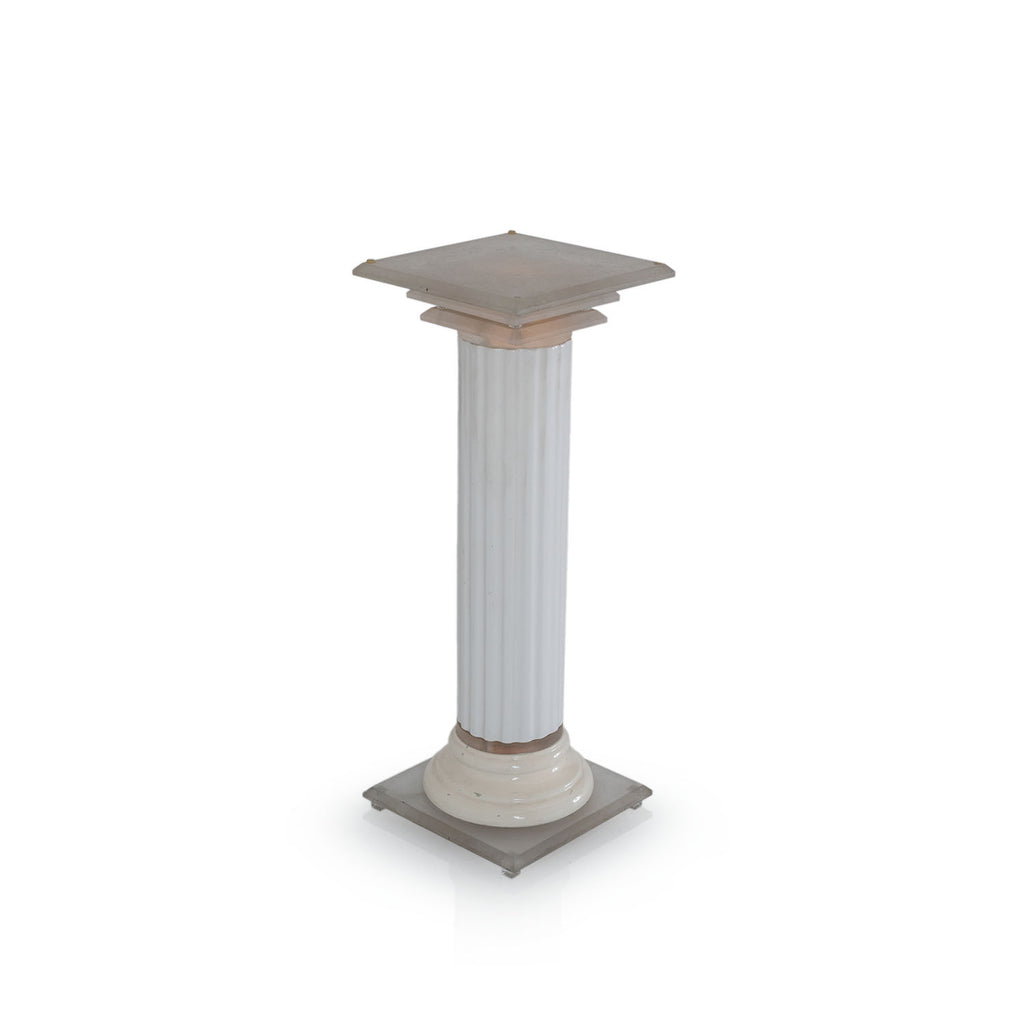 White Light-Up Greek Column