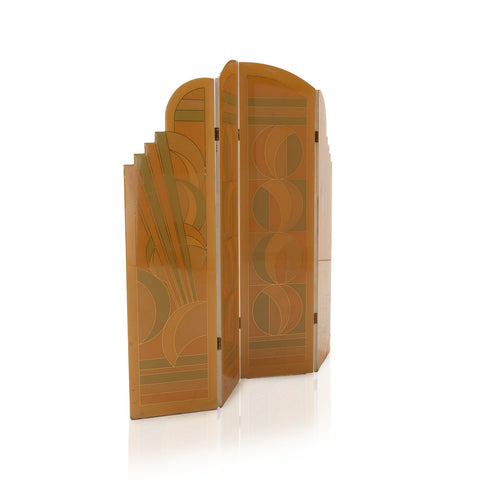 Orange and Green Art Deco Divider