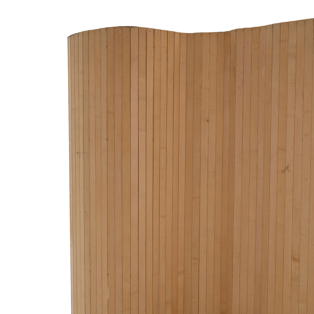Slated Natural Wood Divider Screen