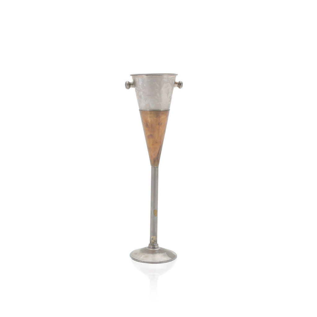 Metal Cone Ice Bucket with Stand
