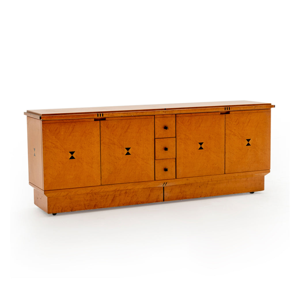 Bird's Eye Maple Credenza Cabinet