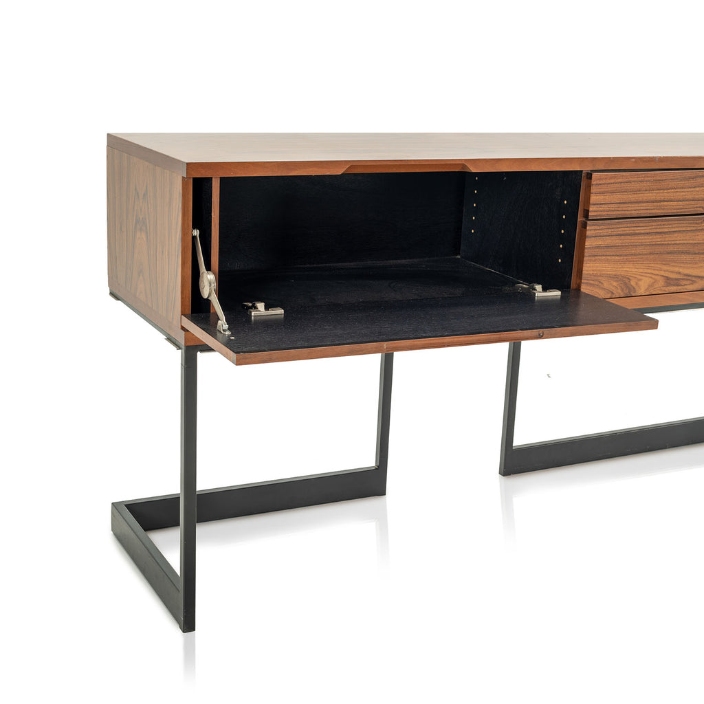 Contemporary Tiger Wood Console / Credenza