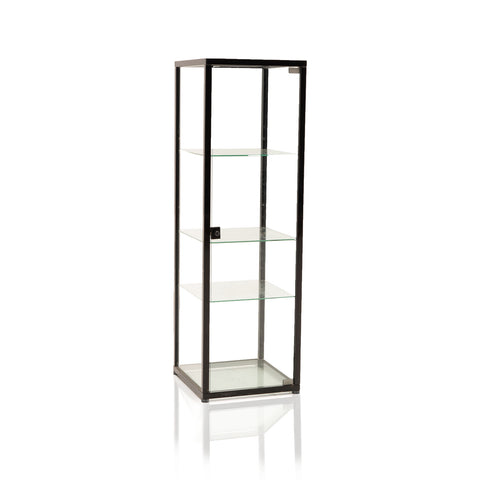 Black Frame Glass Display Shelf