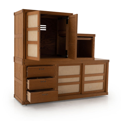 Large Craftsman Style Storage - Media Unit