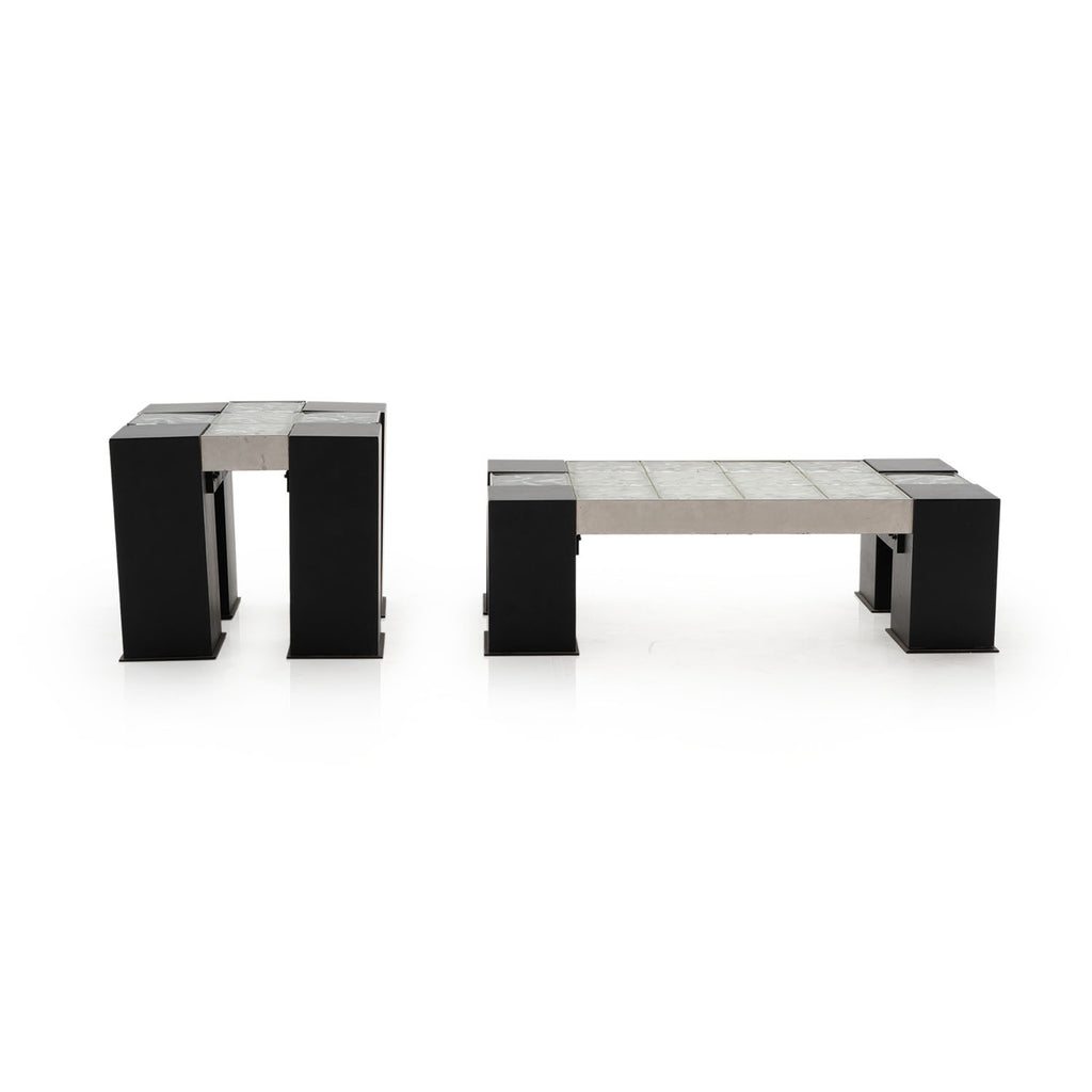 Glass Block Side Table