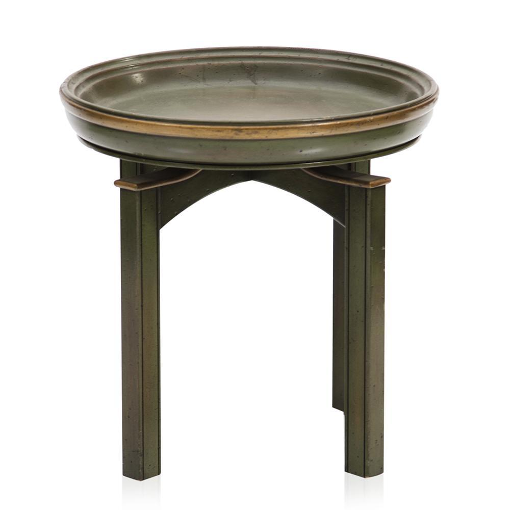 Rounded Green Side Table