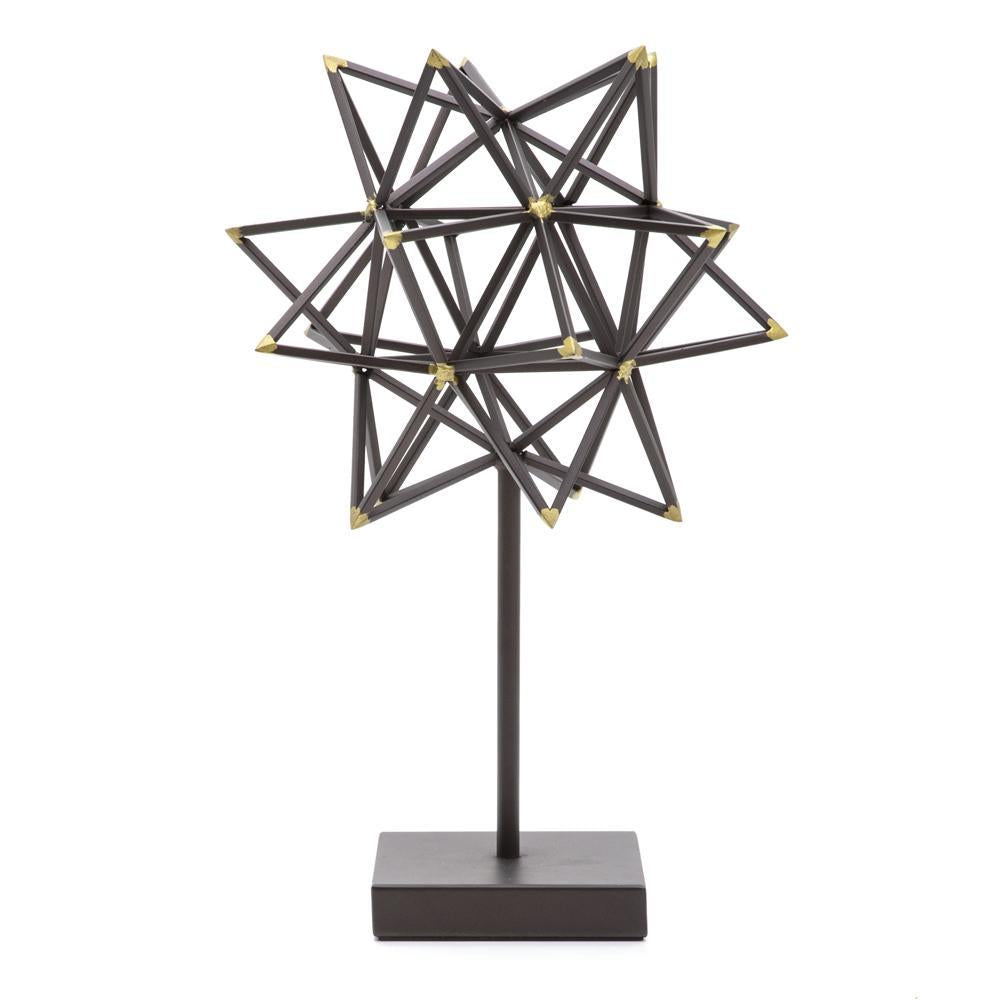 Black Metal Starburst Sculpture