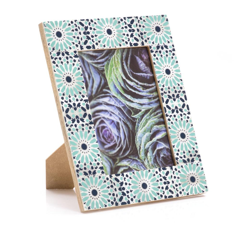 "BFA  100-923 Purple Flowers Green Mosaic (8"" x 10"")"