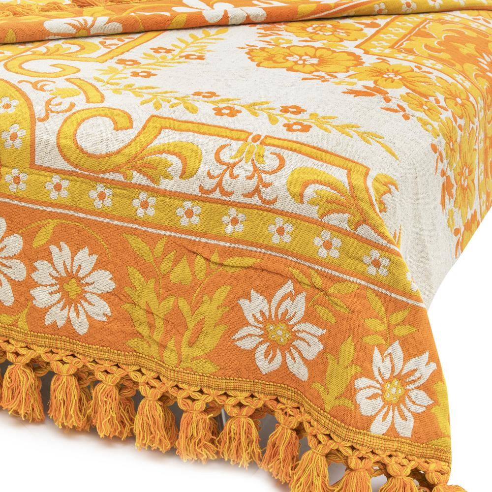 Yellow Gold Floral Bedspread
