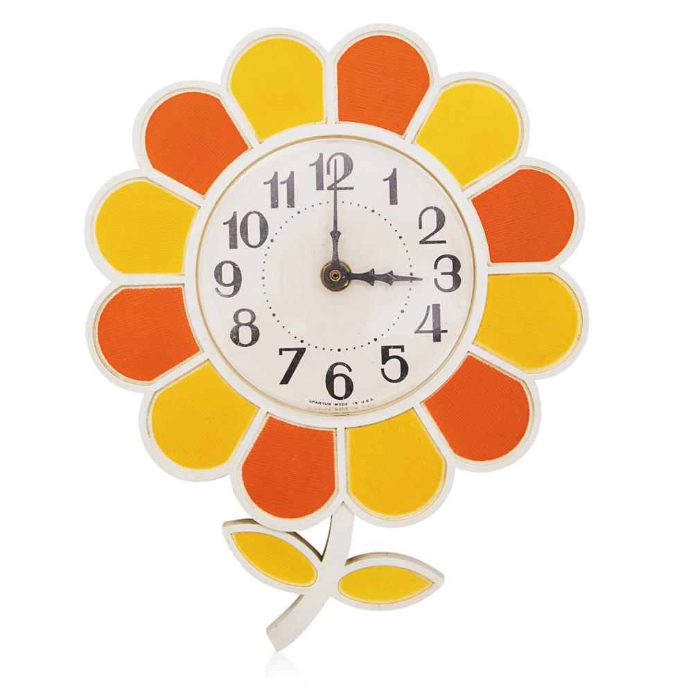 Flower Clock - Orange Yellow