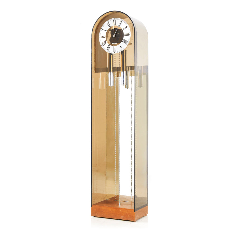 Chrome Chimes Standing Clock