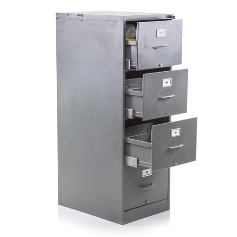 Silver Metal File Cabinet