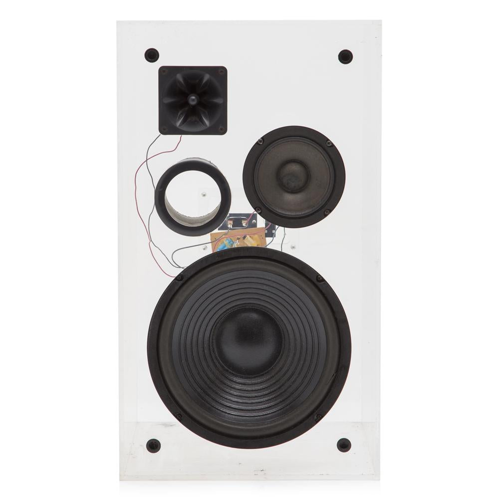 Clear Acrylic Speakers Set of 2
