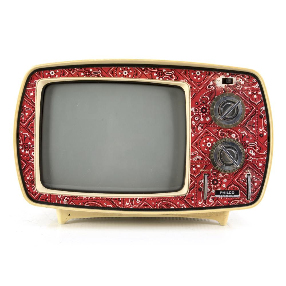 Philco Red Paisley Television