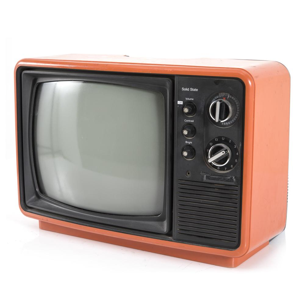 1976 Panasonic TR-822 Retro Orange Television