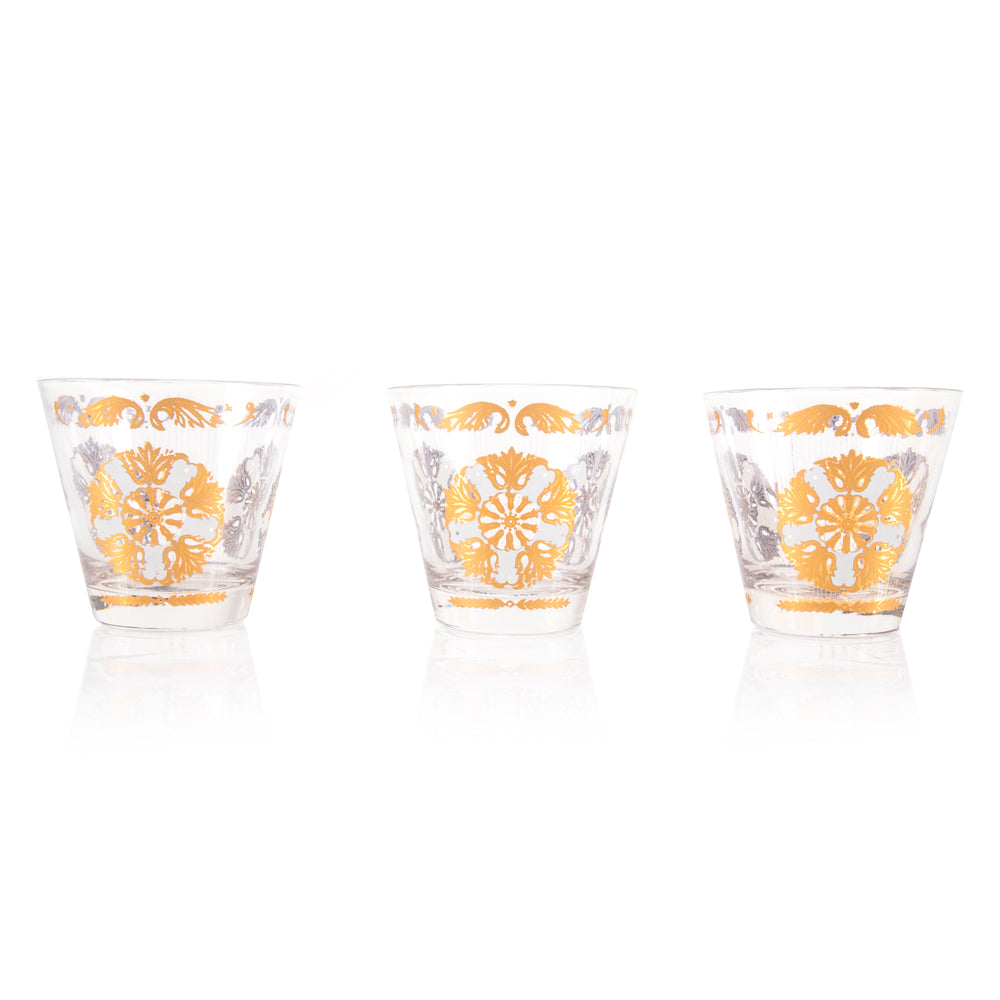 Gold Leafed Tumbler Glasses