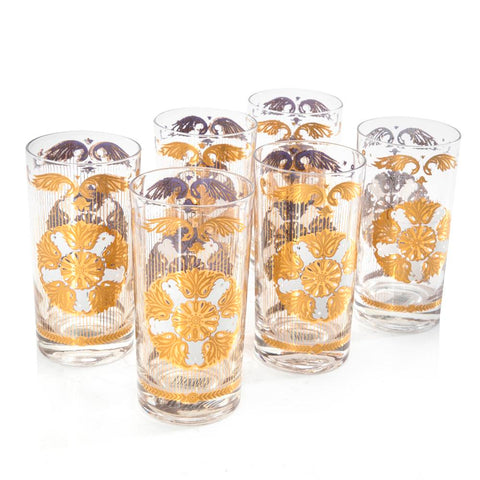 Gold Leafed Highball Glasses