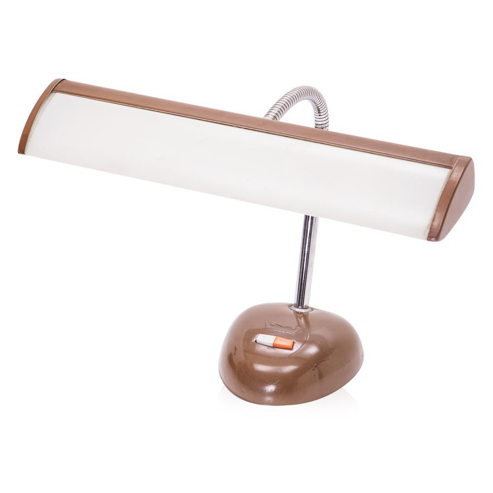 Brown and White Desk Lamp