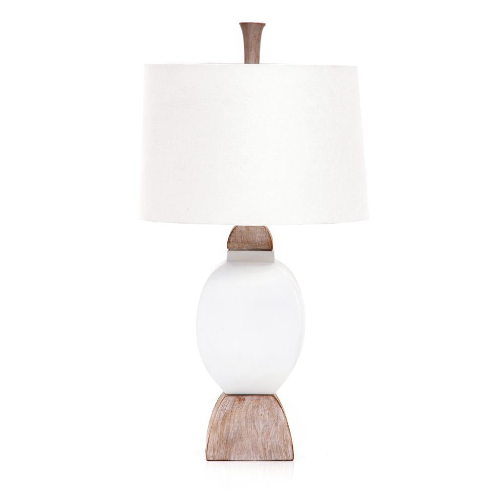 White Shabby Chic Rounded Table Lamp Modernica Props