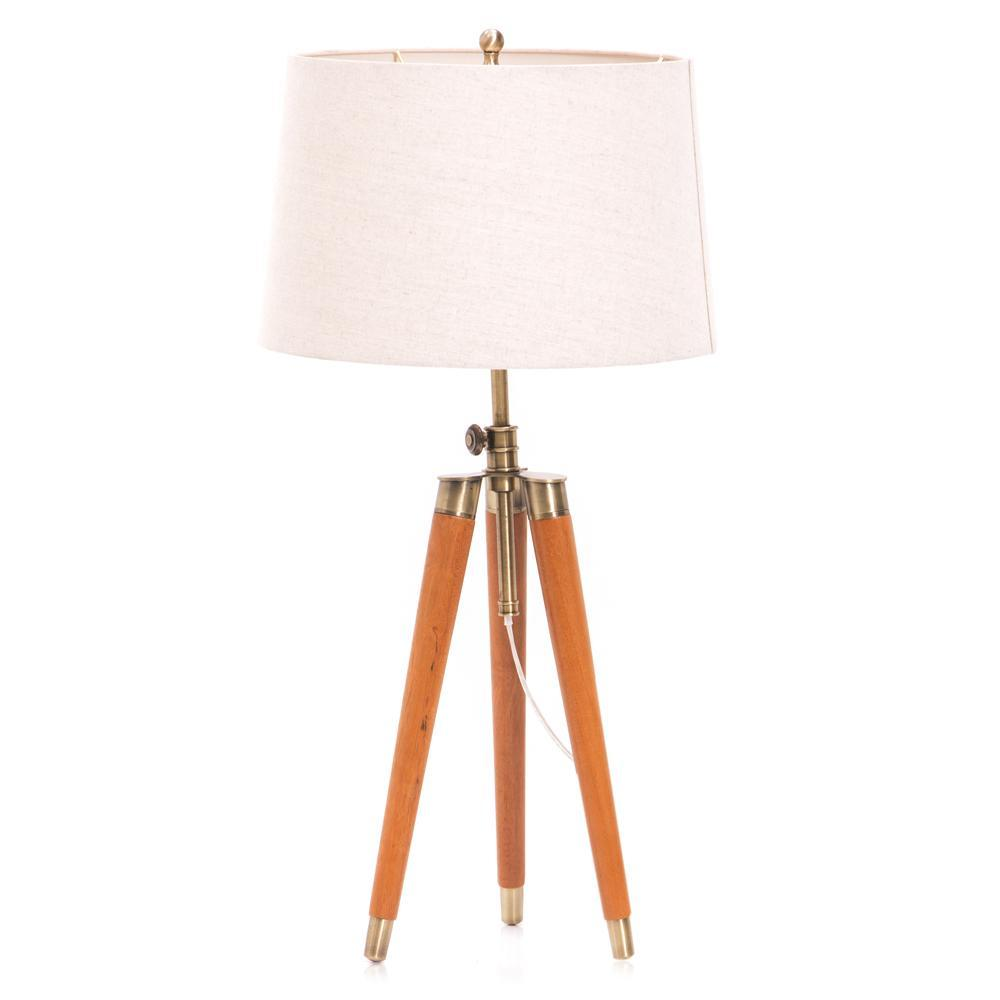 Wood Tripod Table Lamp Modernica Props