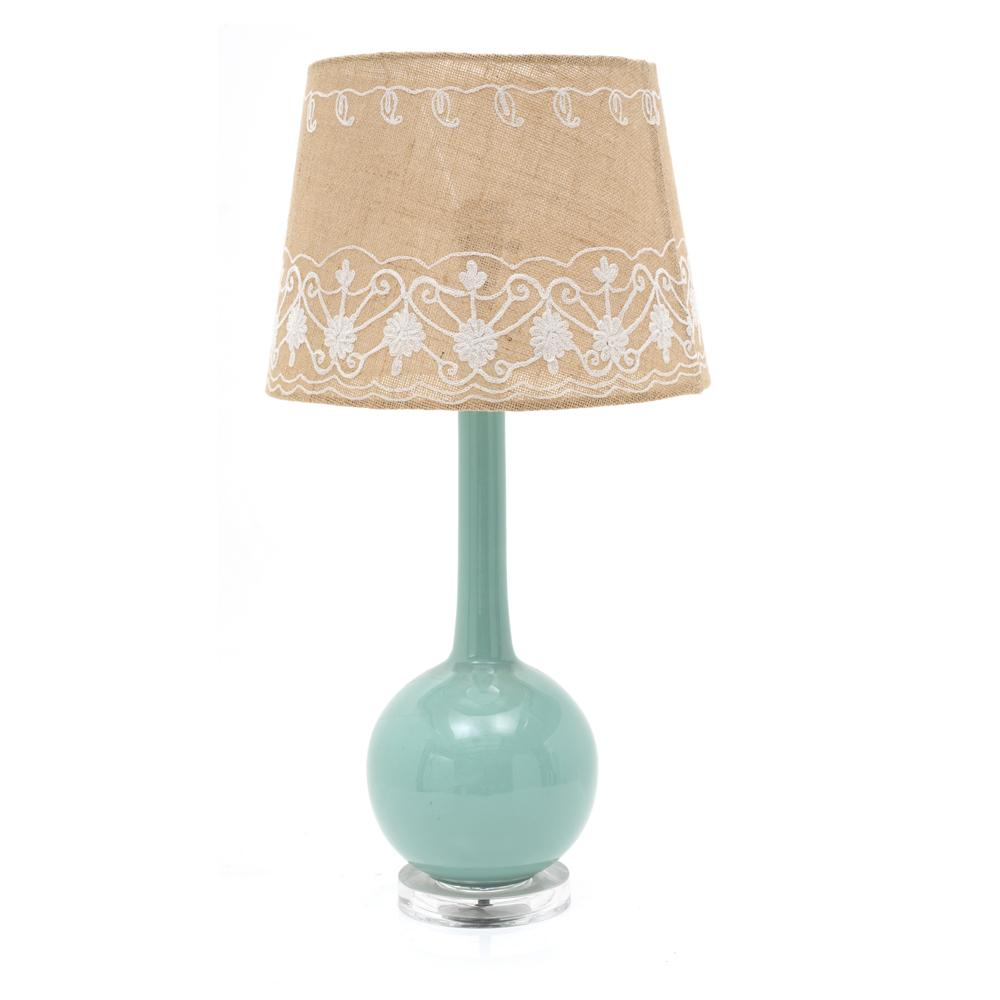 Blue Ceramic Table Lamp Modernica Props