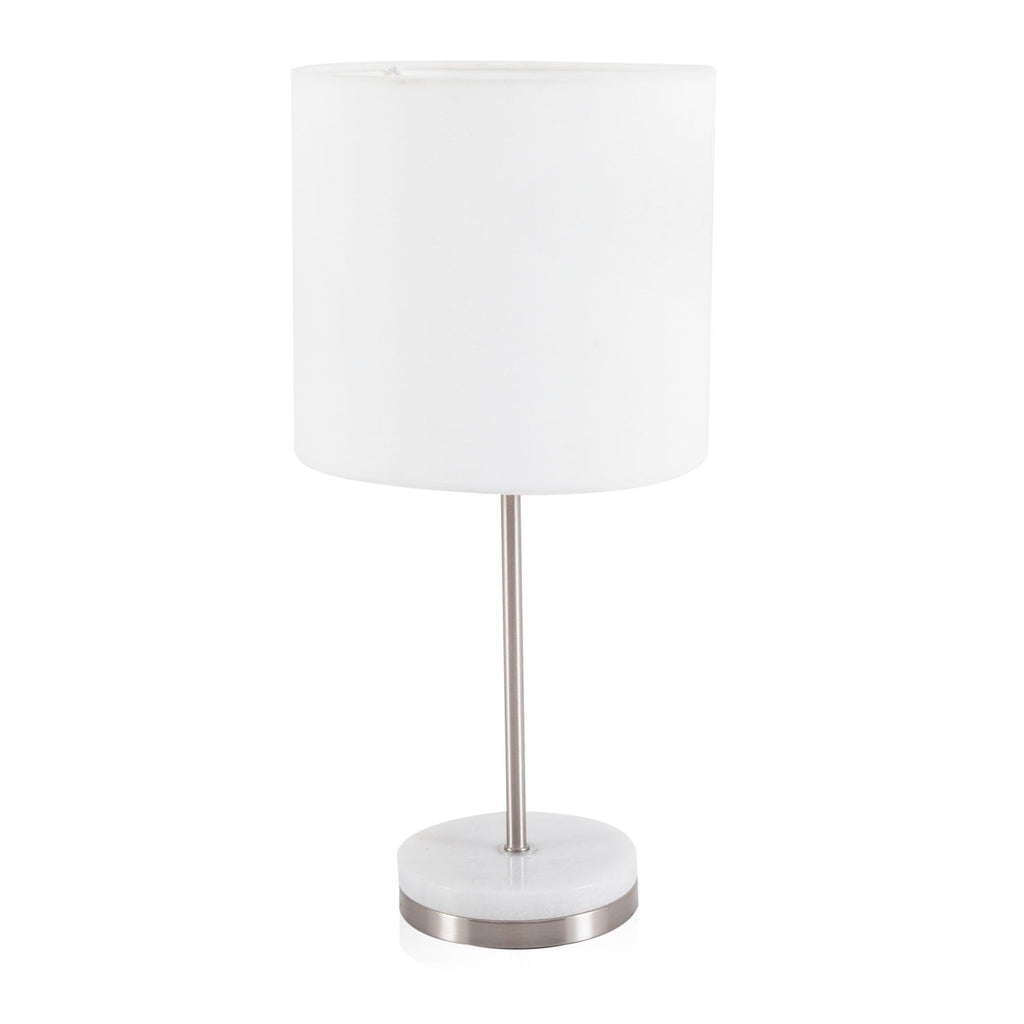 White Aluminum Table Lamp