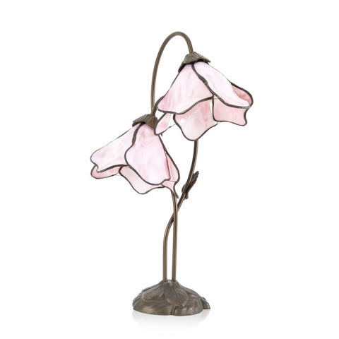 Art Nouveau Pink Flower Lamp
