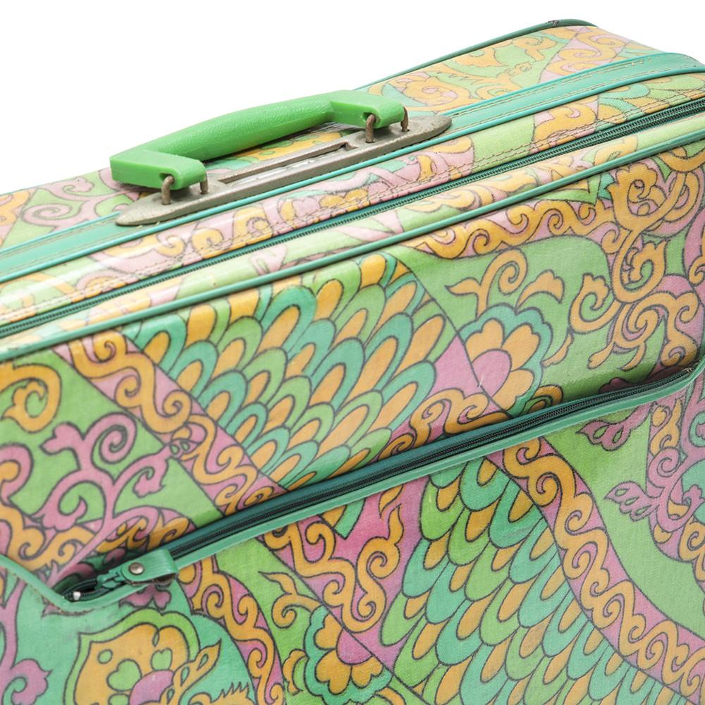 Green and Pink Suitcase